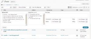 How to bulk edit post properties in seconds
