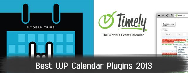Best WordPress Event Calendar plugins in 2013