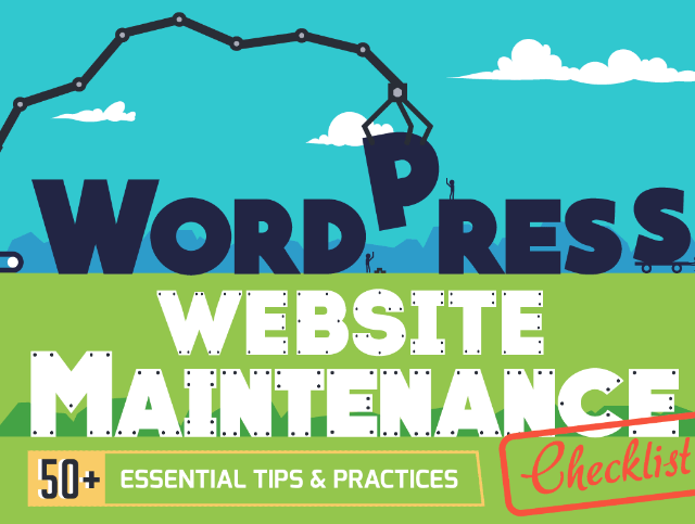 Infographic: 50+ Essential WordPress Website Maintenance Tasks